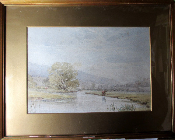 Derbyshire landscape near Bakewell, watercolour on paper, signed W.H. Pigott, 1882.  SOLD.