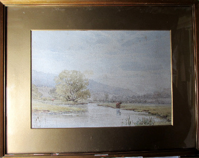 Derbyshire landscape near Bakewell, watercolour on paper, signed W.H. Pigot