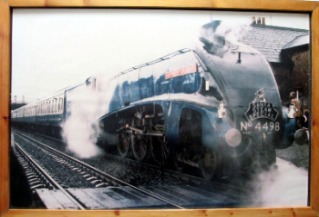 Santa Steam Special hauled by L.N.E.R. Class A4  4498 Sir Nigel Gresley. Print. Framed.