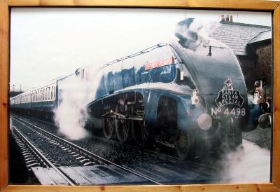 Santa Steam Special hauled by L.N.E.R. Class A4  4498 Sir Nigel Gresley.