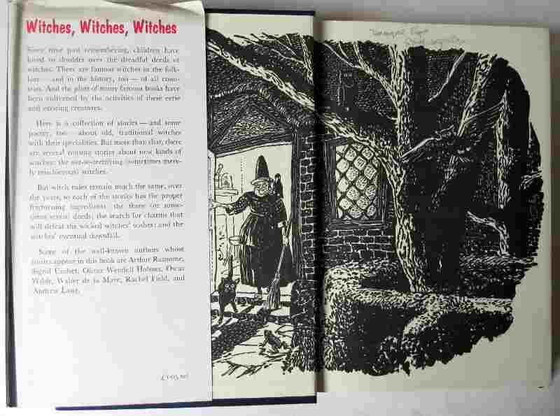 Witches, witches, witches, selected by Helen Hoke. Published by Chatto and Windus, 1971. 3rd. Impression. Front paste-down and e/p.