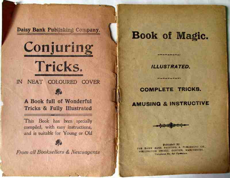 Book of Magic with Illustrations. Daisy Bank Printing & Publishing Co., Manchester, 1900. Title page.