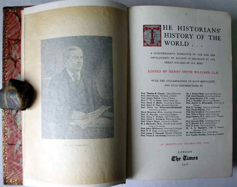 History of The United States Spanish America, The Times, 1908. Title page and facing frontispiece.