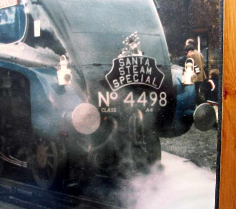 Santa Steam Special, Sir Nigel Gresley, 4498. Print, framed and glazed.