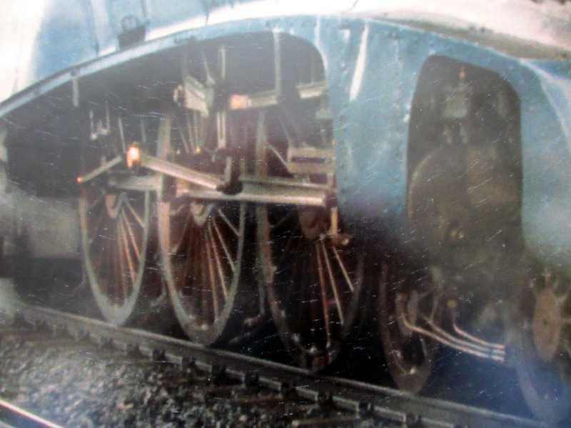 Santa Steam Special, Sir Nigel Gresley, 4498. Print, framed and glazed. Detail.