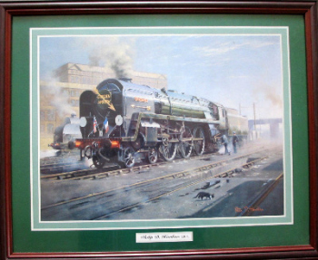 The Iron Duke, 70014, with Golden Arrow Headboard, print from original by Philip D. Hawkins.   SOLD 15.12.2013.