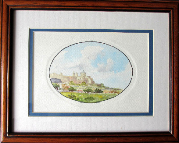 Mdina, watercolour on card, signed A.M. Galea, Malta, 1989.  SOLD  19.07.2019.
