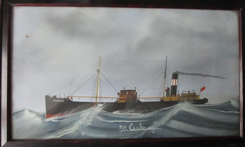 ss Camberway, gouache on paper, signed monogram LK (L. Kroes), 1918.