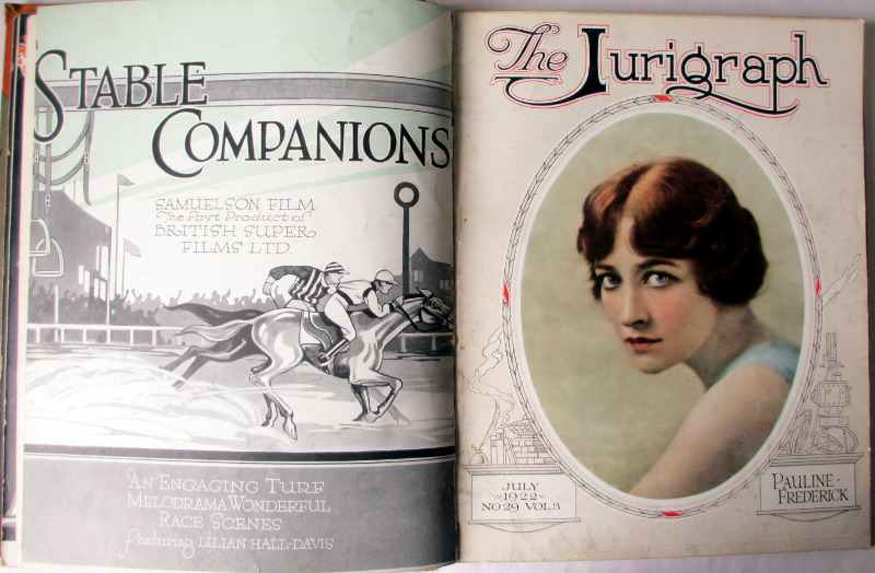 The Jurigraph, March 1922 No 26 Vol 3 to July 1923 No 36 Vol 3. Bound volume. Sample pages July 1922.