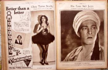 Film Weekly Magazine. Mon. April 15 to July 22, 1929, bound volume.  SOLD.
