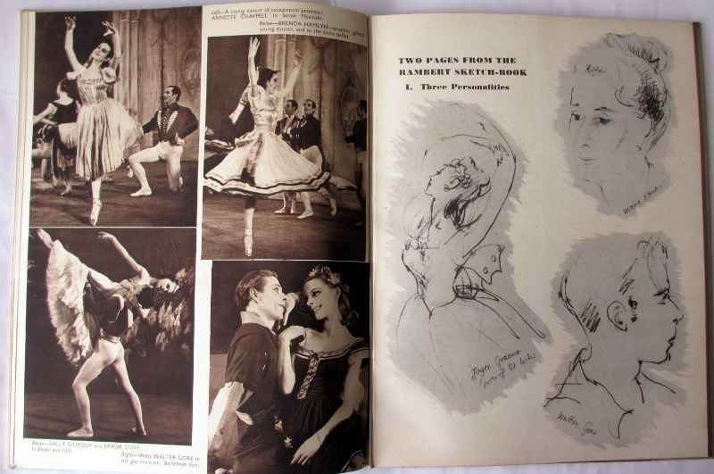 Ballet Impromptu by Kay Ambrose, Golden Galley Press Ltd., 1946. Sample pages with drawings and sepia photos.