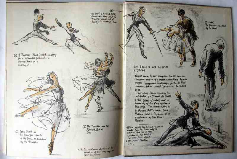 Ballet Impromptu by Kay Ambrose, Golden Galley Press Ltd., 1946. Back e/p and paste-down.