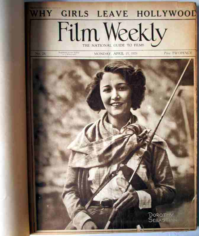 Film Weekly 1929, sample front page No. 26.