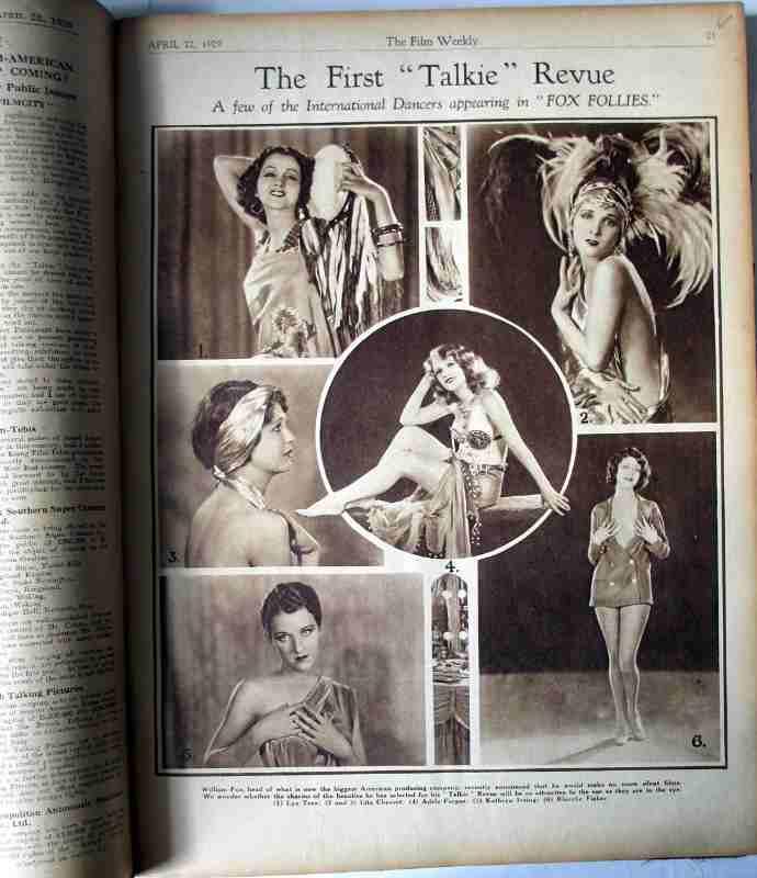 Film Weekly 1929, sample page.