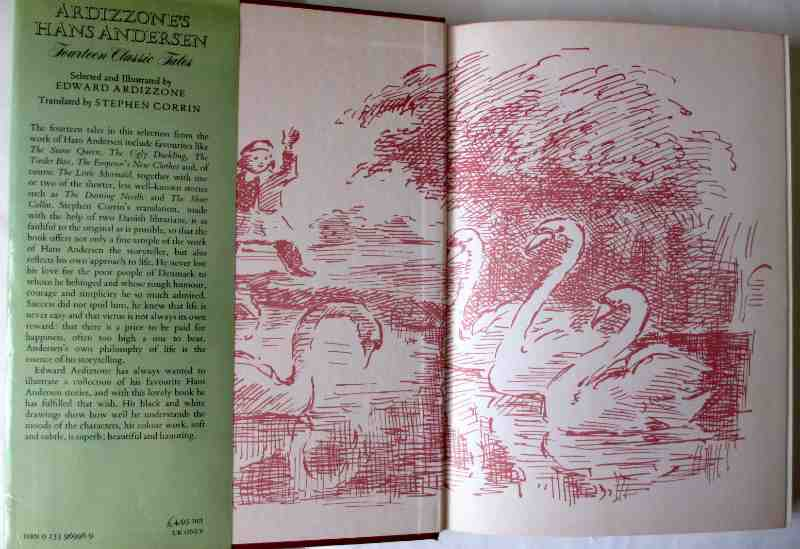 Ardizzone's Hans Andersen, 1978. First Edition. Front paste-down and e/p with illustration.