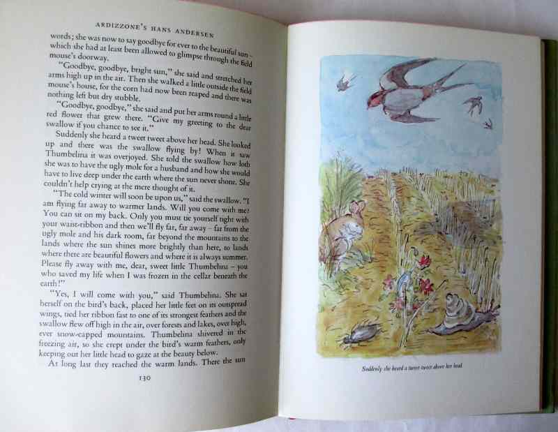 Ardizzone's Hans Andersen, 1978. First Edition. Sample page and illustration.