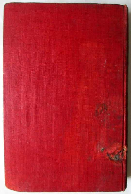 Letters of Travel (1892-1913) by Rudyard Kipling, MacMillan & Co., 1920. Back board with water stain.