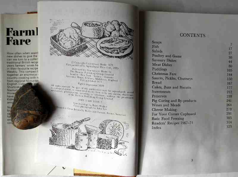 Farmhouse Fare , Countrywise Books, 1979. 8th Imp. Sample pages.