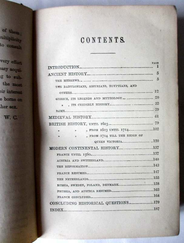 Chambers's Historical and Miscellaneous Questions by William Chambers, 1877. Contents section one.