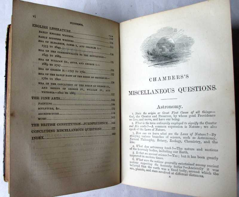 Chambers's Historical and Miscellaneous Questions by William Chambers, 1877. Contents second section.