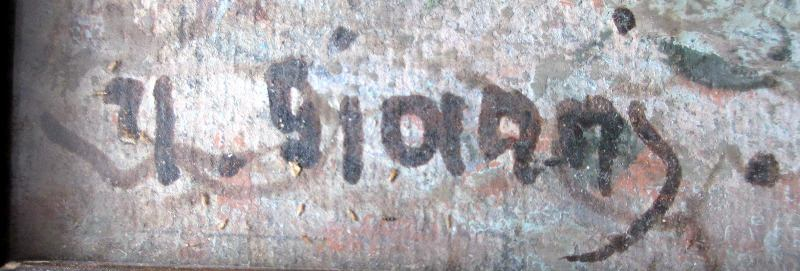 Old Street Scene in Naples, Signed Y. Gianni, 19th/20th C Neapolitan School, c1900. Signature.