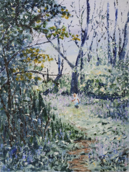 Bluebell Wood, acrylic on canvas, signed Alice Maw. 2009.  SOLD BY ARTIST 11/2016.