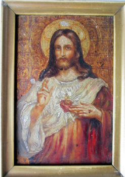 Study of Jesus, oil on panel, unsigned. 19th/early 20th Century Eastern Orthodox School.  SOLD  07.06.2014.