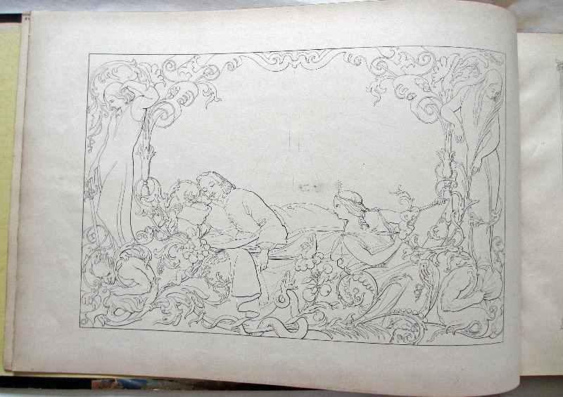 Pilgrim's Progress by John Bunyan, 1844. Drawing facing title page.