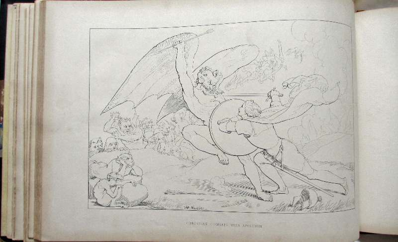 Pilgrim's Progress by John Bunyan, 1844. Sample page. Sample drawing.