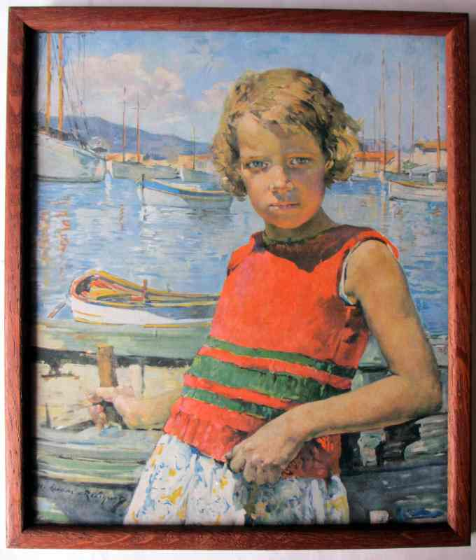 Sea Urchin, print from the original by Marie Lucas-Robiquet, c1950. Framed and glazed.