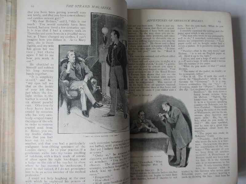 The Strand Magazine, Vol. II July to December, Geo. Newnes, 1891. Sample pages - Sherlock Holmes.