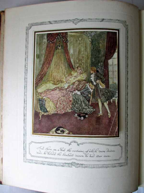 The Sleeping Beauty and other fairy tales retold by Sir Arthur Quiller-Couch, illustrated and signed by Edmund Deluc, 1910. Frontispiece.