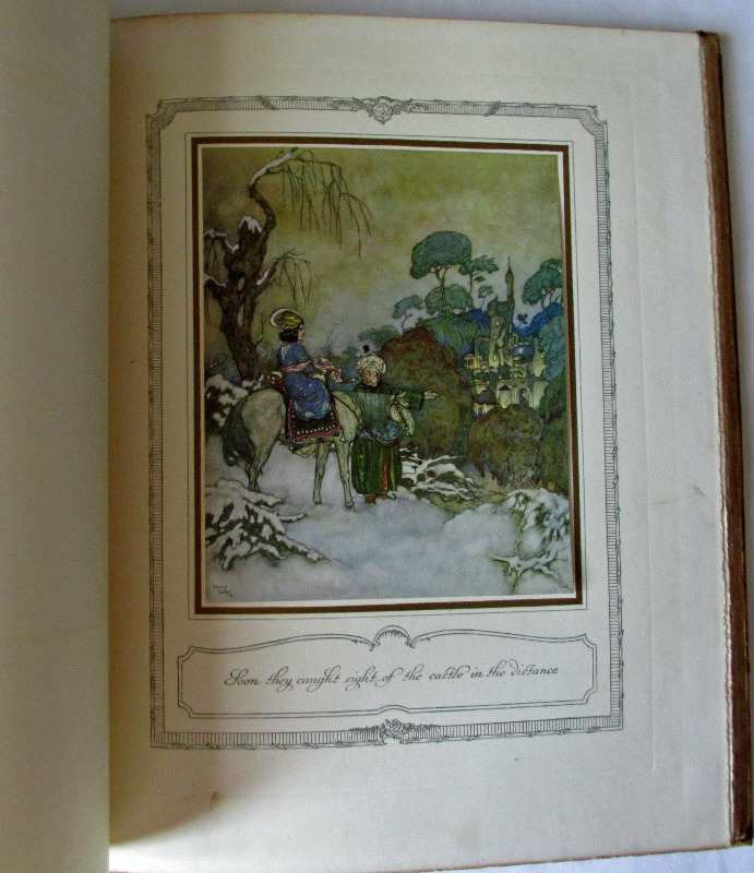 The Sleeping Beauty and other fairy tales retold by Sir Arthur Quiller-Couch, illustrated and signed by Edmund Deluc, 1910. Sample plate.