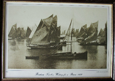 Brixham Trawlers, Waiting for a Breeze, 1889. Photograph from Francis Frith