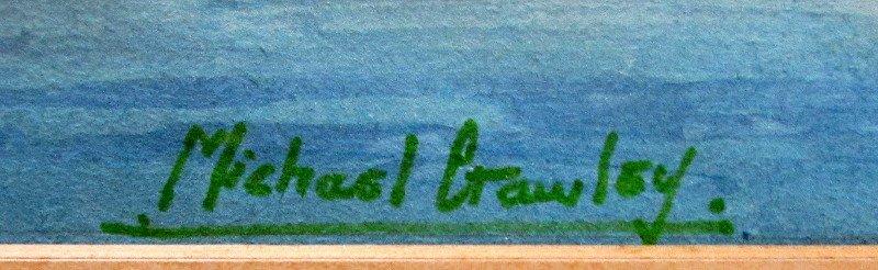 Grand Harbour from Senglea, Malta, signed Michael Crawley, c1990.