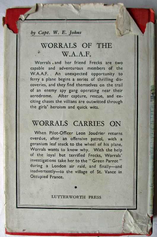 Wren Helen by Dorothy Carter. Published by Lutterworth Press 1943. DJ back cover.