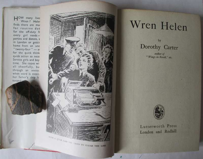 Wren Helen by Dorothy Carter. Published by Lutterworth Press 1943. Frontispiece with illustration.