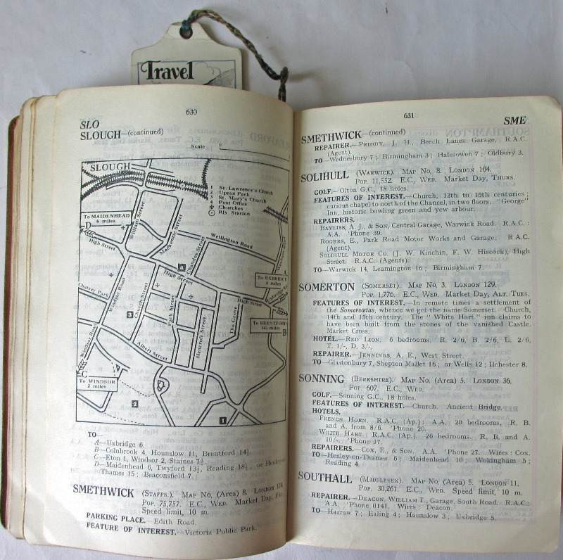 The Dunlop Guide. The British Road Book. Third Edition. 1928. Sample pages.
