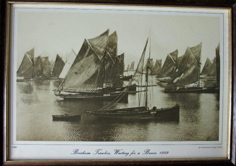 Brixham Trawlers Waiting for a Breeze, 1889, reproduction from the Francis Frith Collection 1860-1940. 1978.