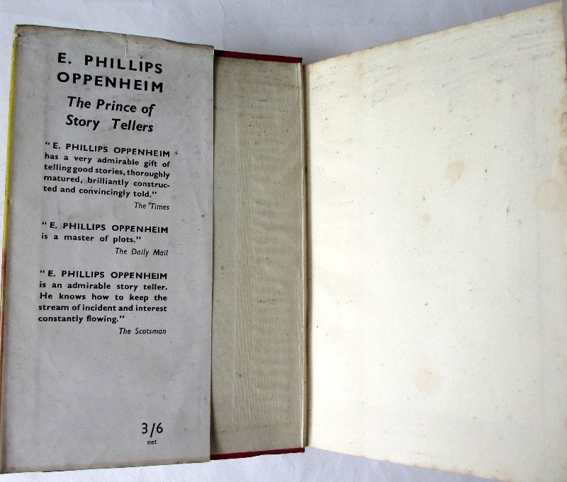 The Light Beyond by E. Phillips Oppenheim, H & S, 1950. DJ front fold.