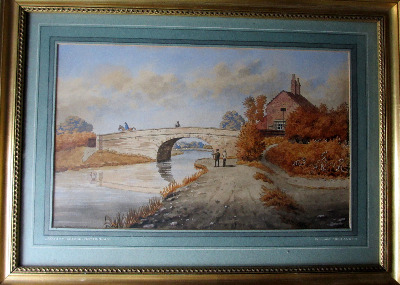 The Old Bridge, Lady Bay, Nottingham, watercolour, signed Wm. Fred Austin.