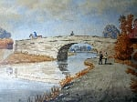 The Old Bridge, Lady Bay, Nottingham, watercolour, signed Wm. Fred Austin. c1870.