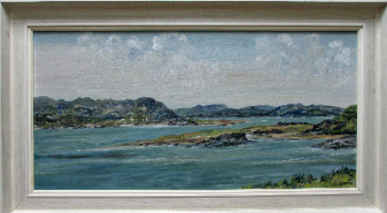 Mulroy Bay, County Donegal, Ireland, oil on board, signed E.I. Bryce. c1970.  SOLD  09.05.2014.
