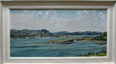 Mulroy Bay, County Donegal, Ireland, oil on board, signed E.I. Bryce. c1970