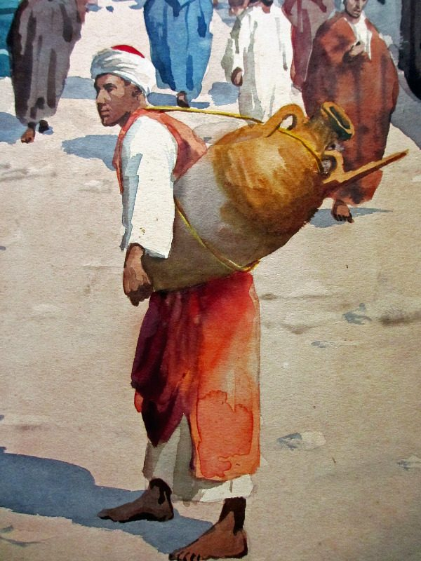 Water-carrier in detail.