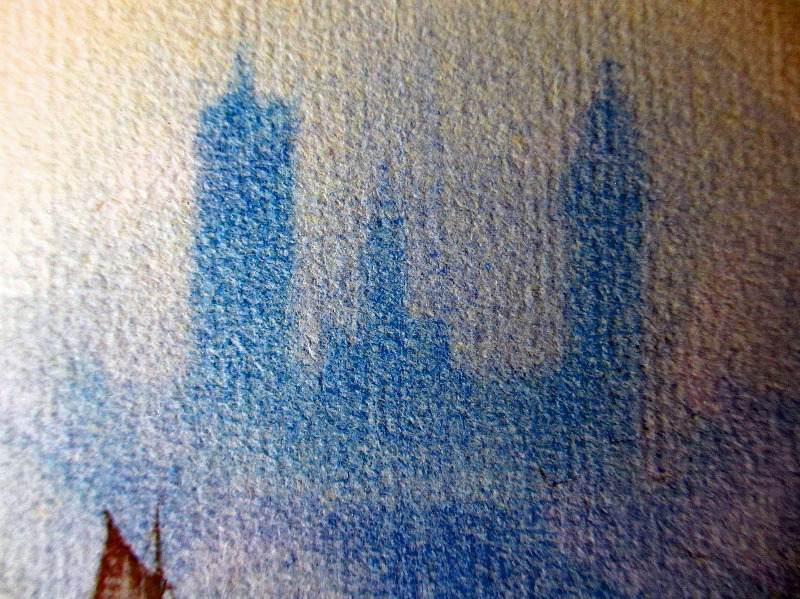 Westminster, watercolour on paper, signed monogram G.M., c1910. Detail.
