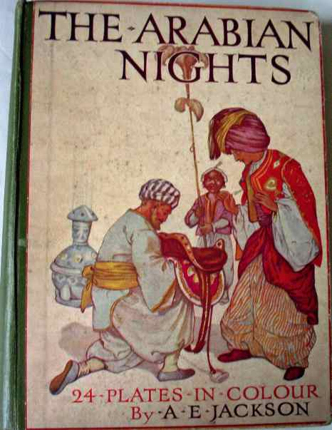 The Arabian Nights with 24 colour plates by A.E. Jackson, Ward, Lock & Co., 1920.