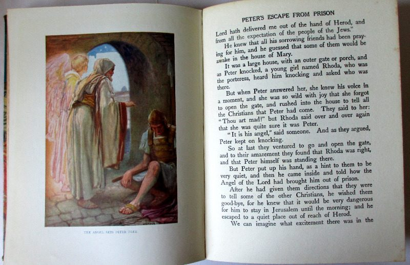 The New Testament Told for Children by Theodora Wilson Wilson, Blackie & Son. Ltd., 1926. Sample pages.