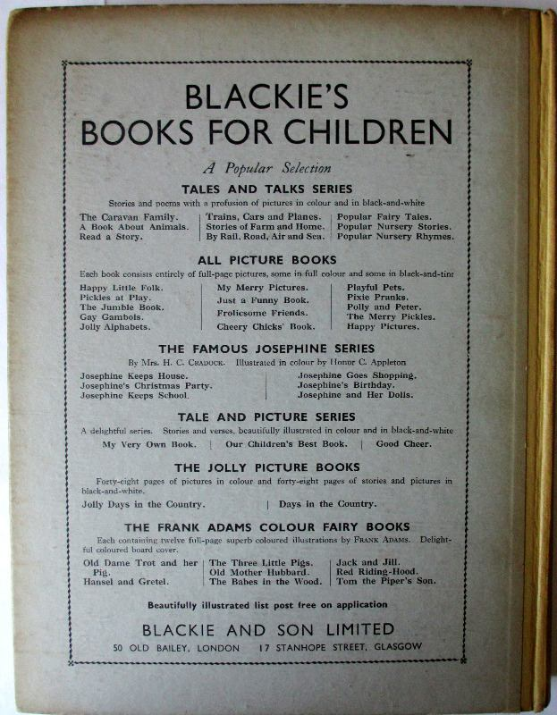 The New Testament Told for Children by Theodora Wilson Wilson, Blackie & Son. Ltd., 1926. Back board.