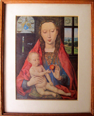 Madonna and Child, from Maerten van Nieuwenhove, Hans Memling, 1487. Open-e